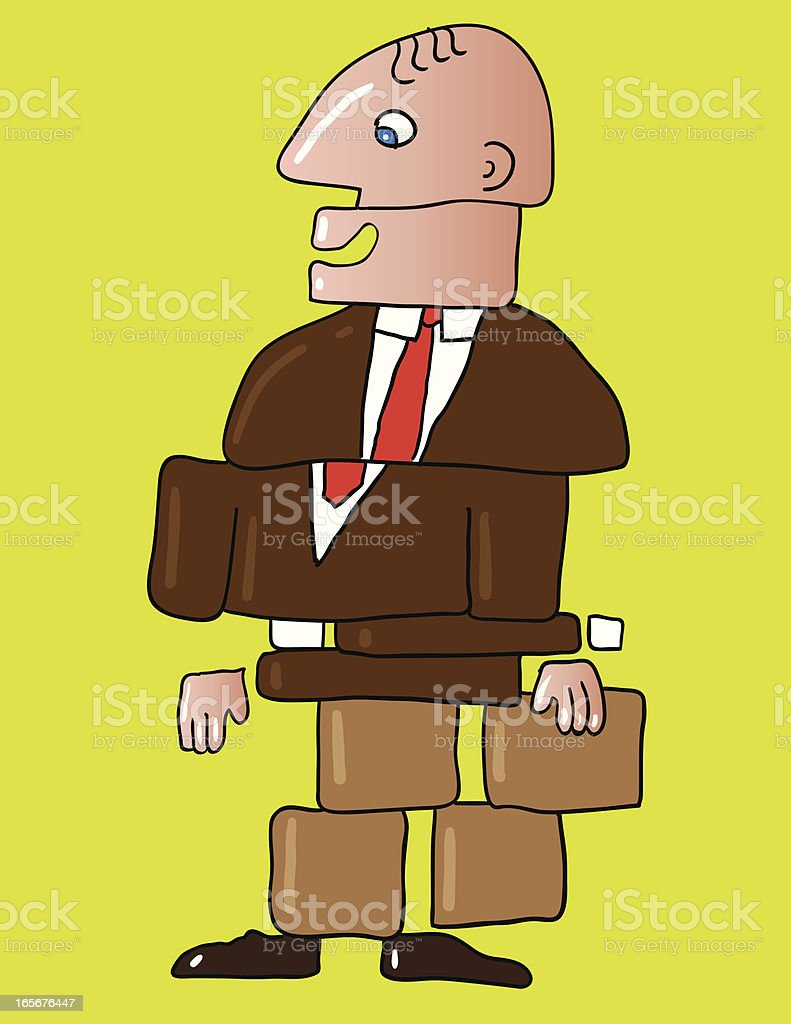 Unstable  Businessman royalty-free stock vector art