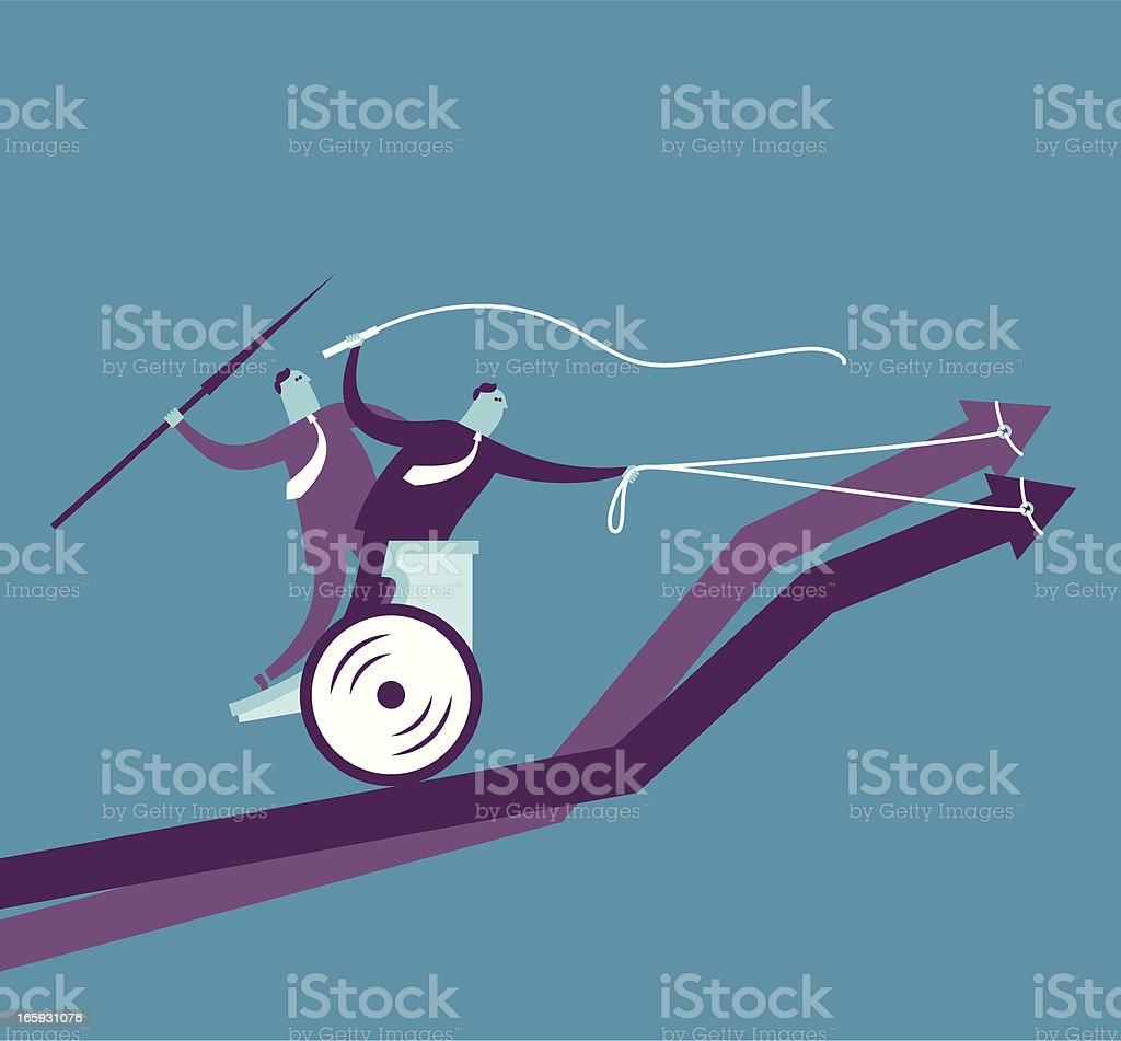 Up chariot race concept royalty-free stock vector art