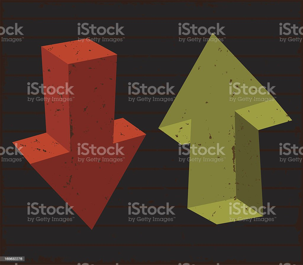 Up Down Arrows royalty-free stock vector art
