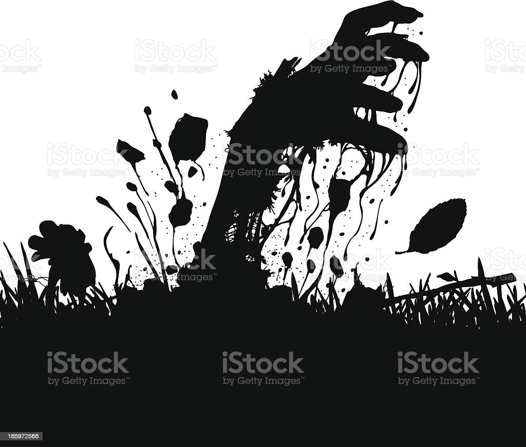Up from the grave vector art illustration