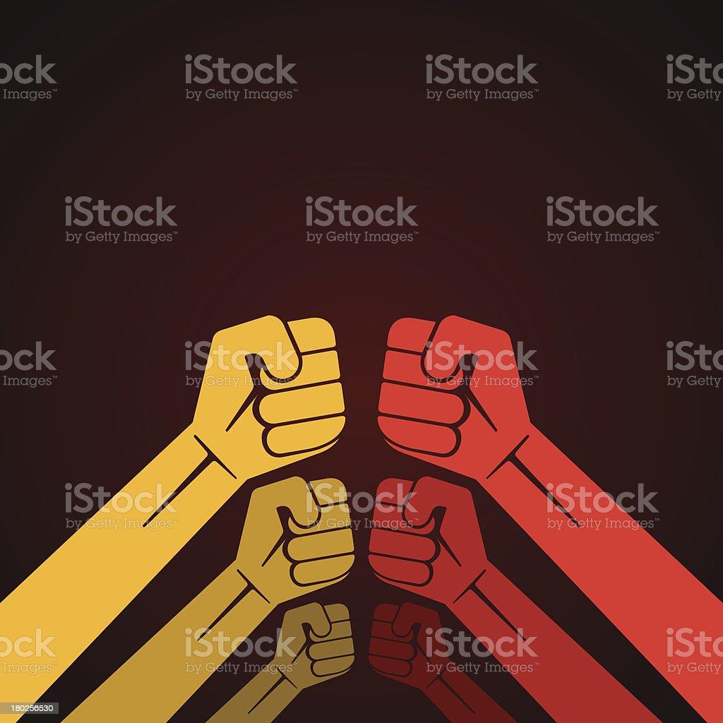 up hand fist vector art illustration