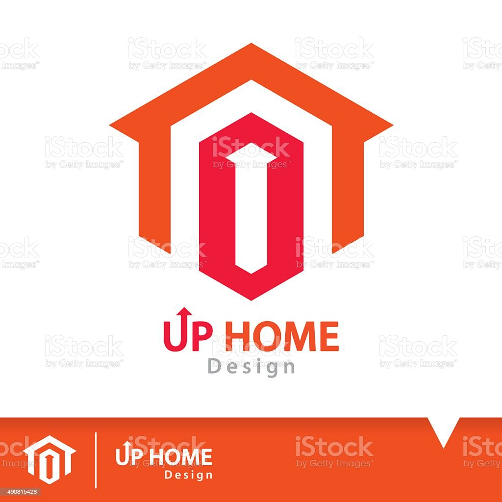 Up home icon symbol vector art illustration