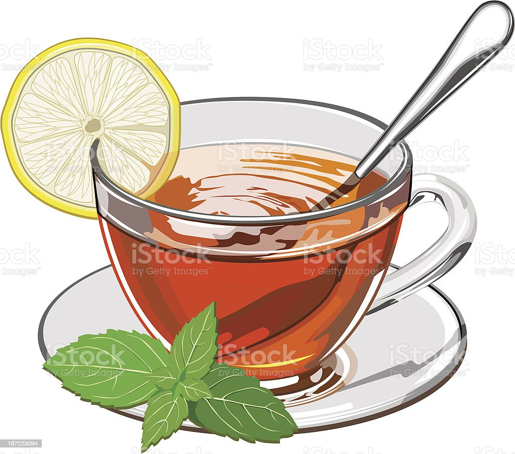 Сup of tea on a white background royalty-free stock vector art