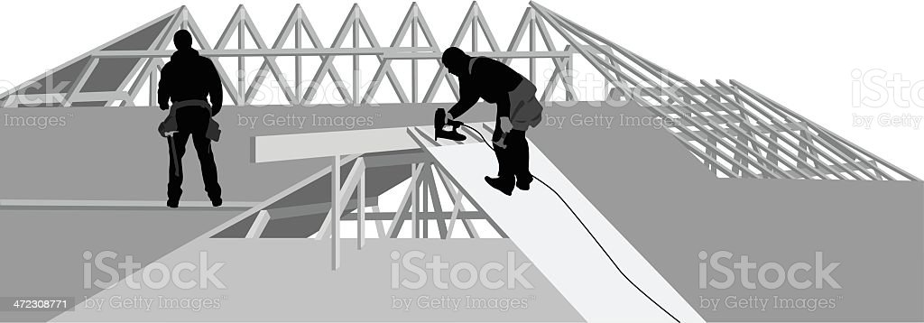 Up On The Roof royalty-free stock vector art