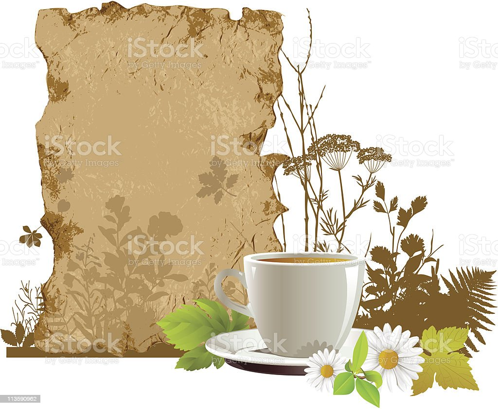 Сup with tea. royalty-free stock vector art
