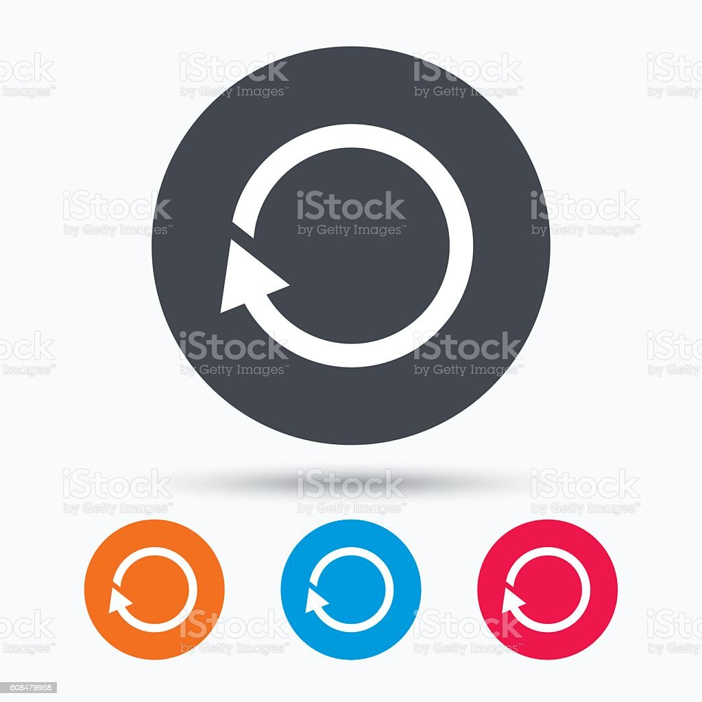 Update icon. Refresh or repeat sign. vector art illustration