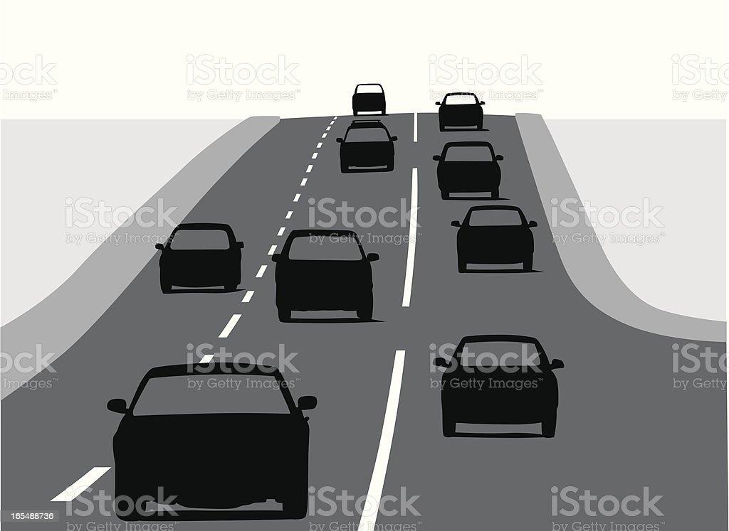 Uphill vector art illustration