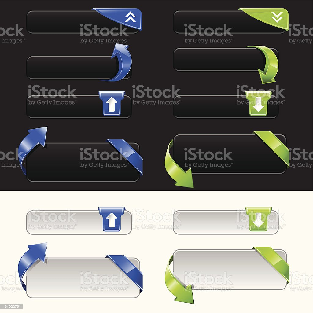 Upload and Download Button Set royalty-free stock vector art