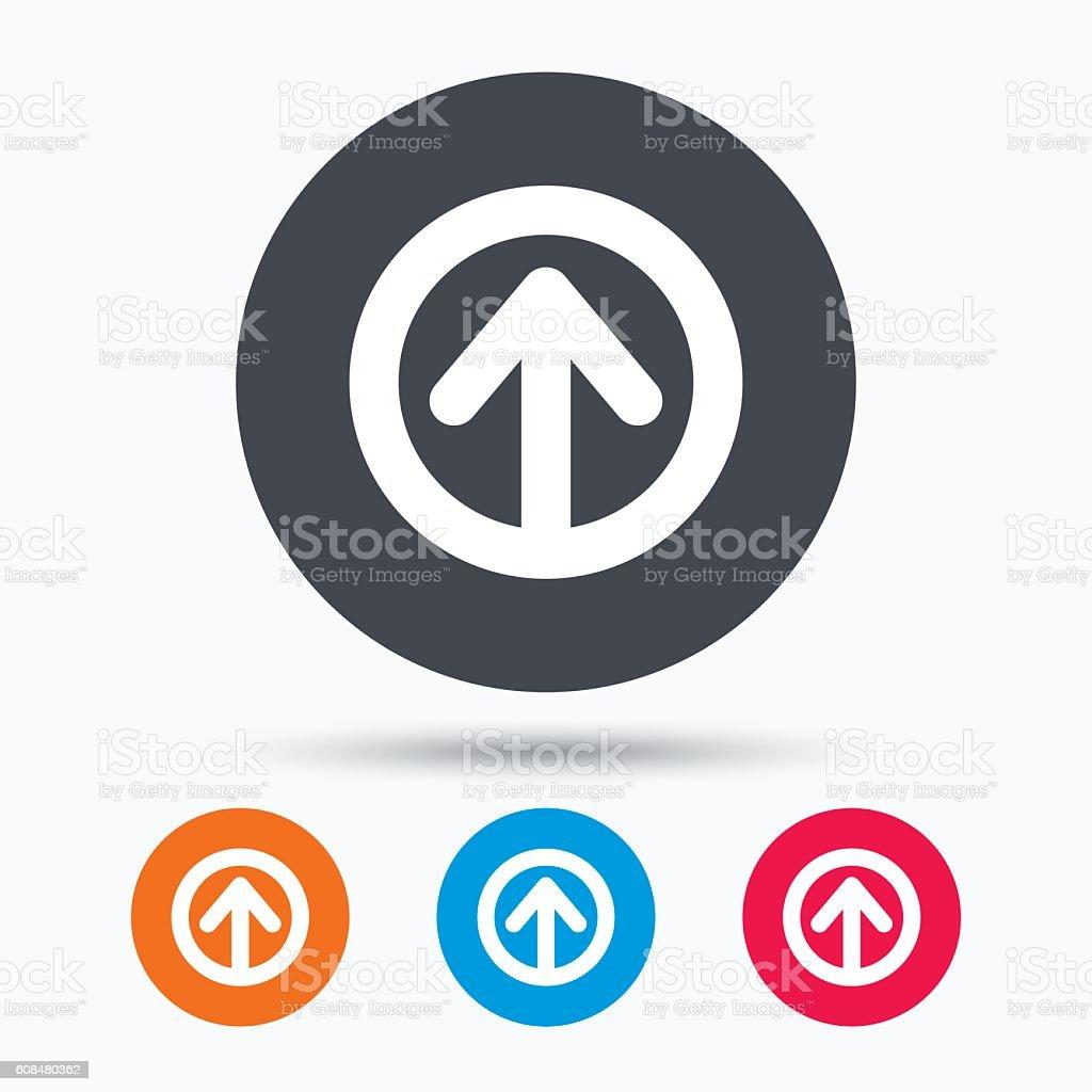 Upload icon. Load internet data sign. vector art illustration