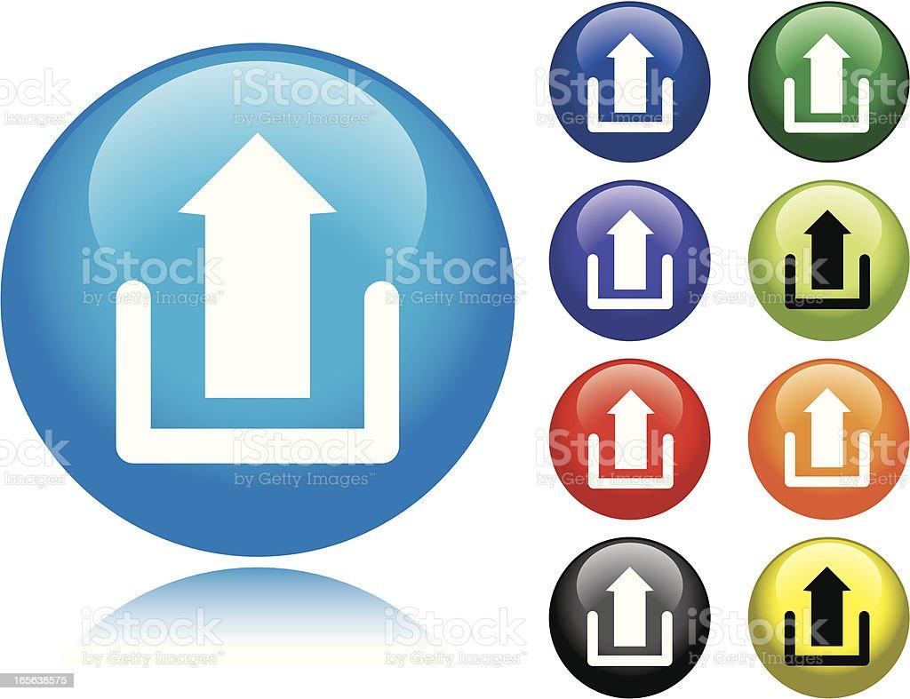 Upload Icon royalty-free stock vector art