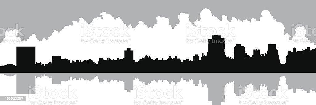 Upper East Side vector art illustration