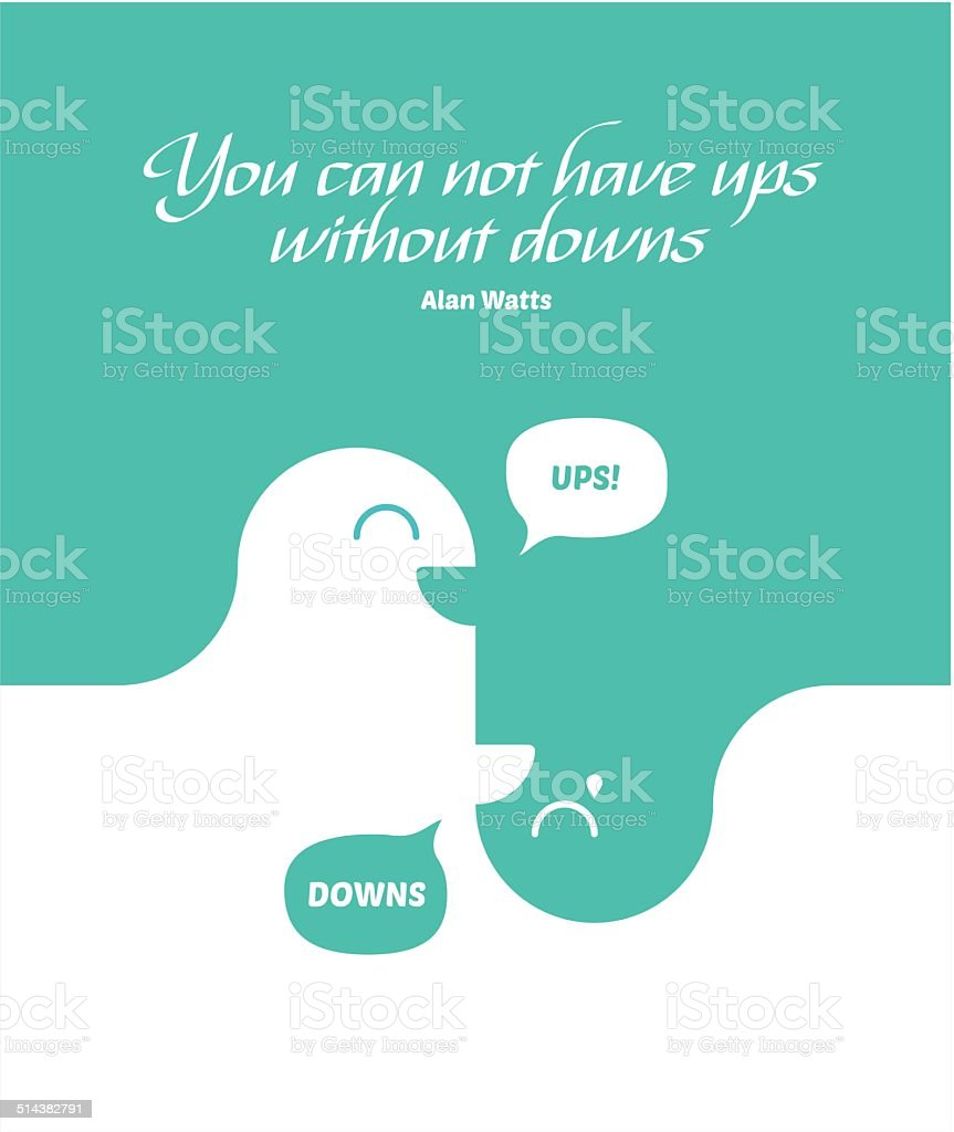 Ups and Downs of life vector art illustration