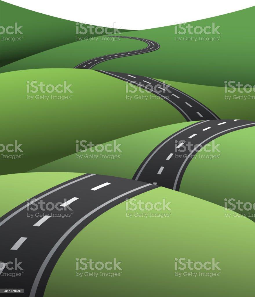 Ups and downs road royalty-free stock vector art