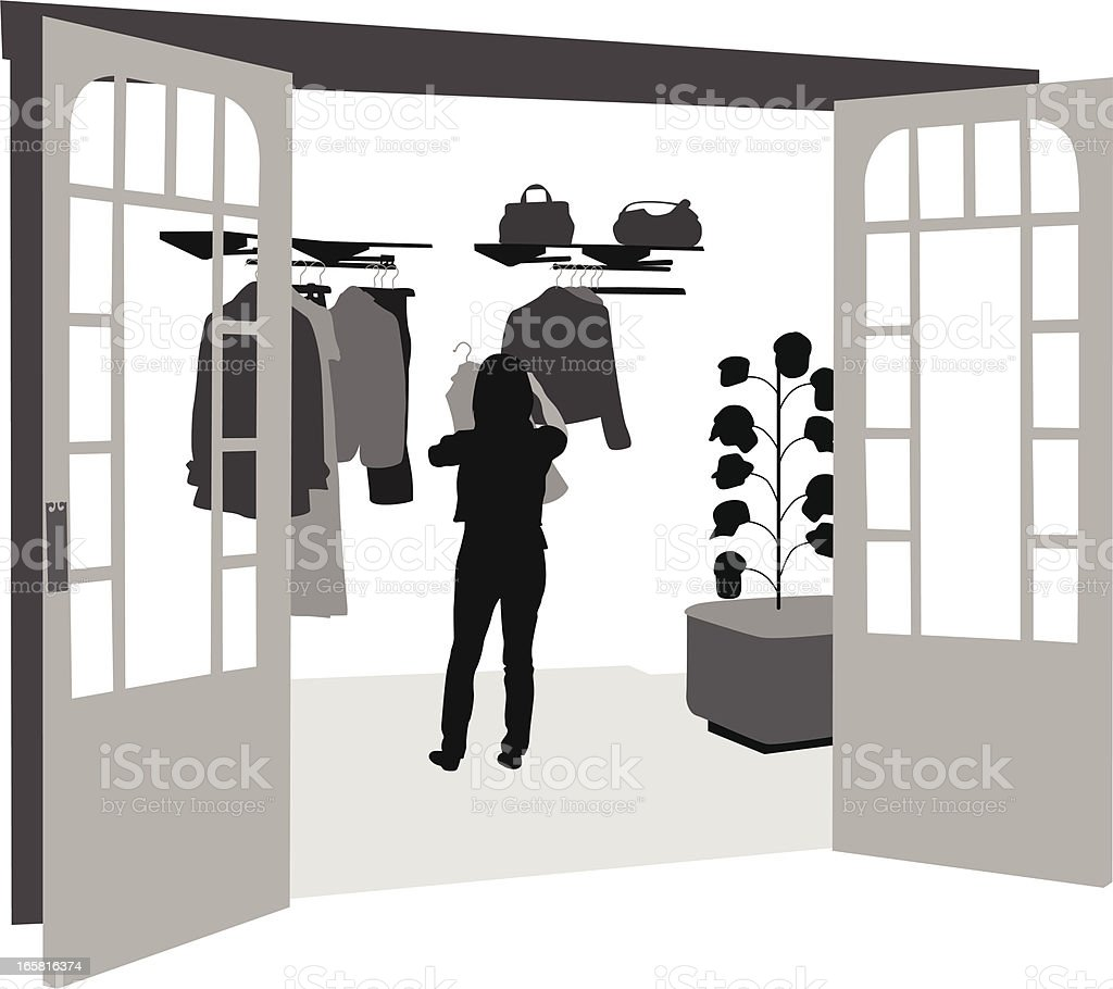Upscale Shop Vector Silhouette royalty-free stock vector art