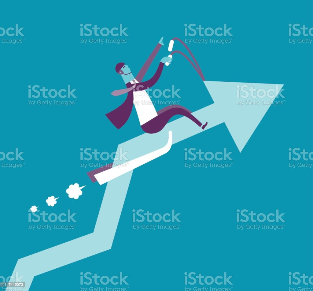 Uptrend royalty-free stock photo