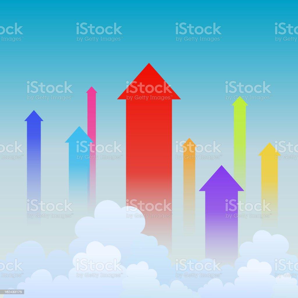 Upward Trends royalty-free stock vector art
