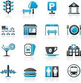 Urban and city elements icons