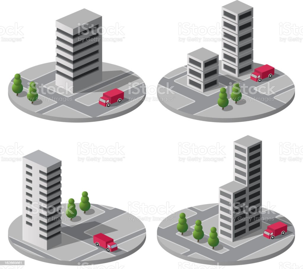 Urban areas royalty-free stock vector art