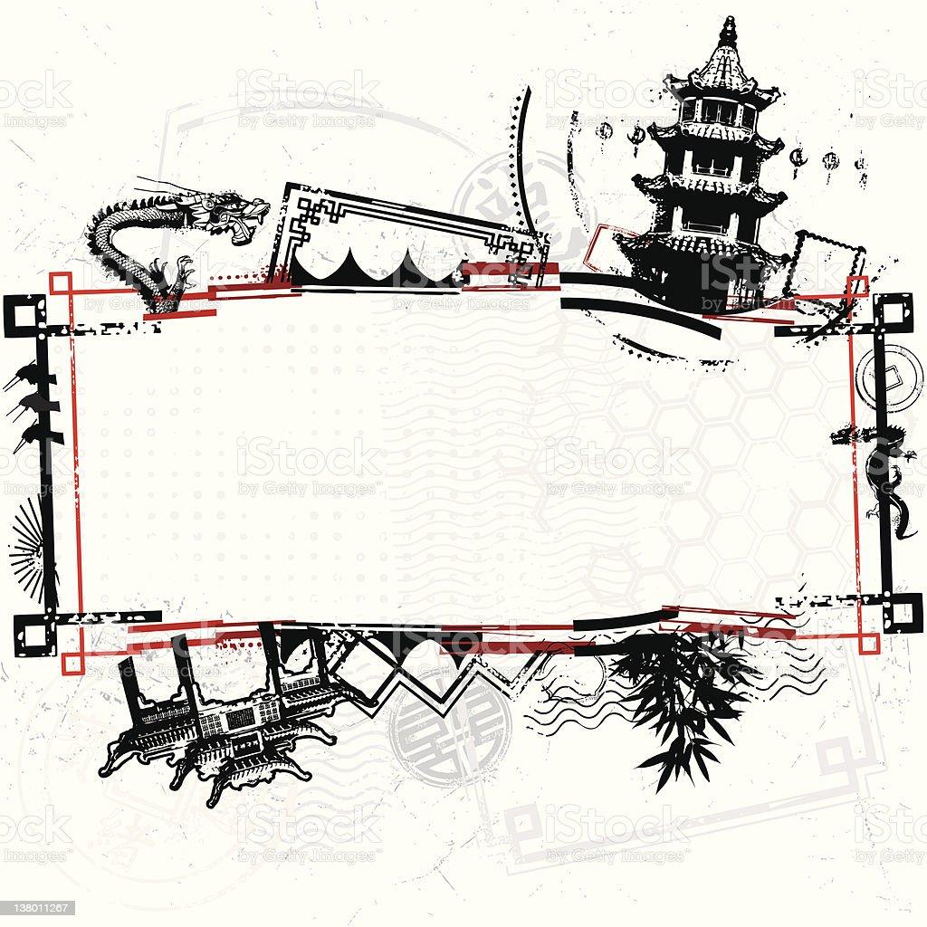 Urban Asian Bongo Madness royalty-free stock vector art
