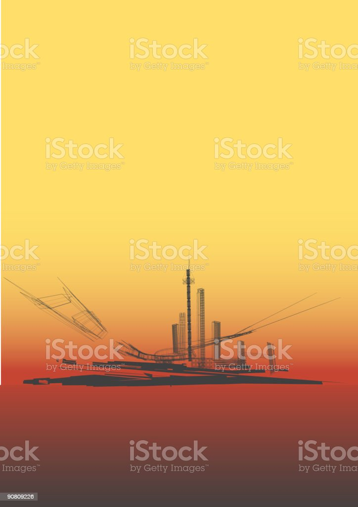 urban  Background. royalty-free stock vector art