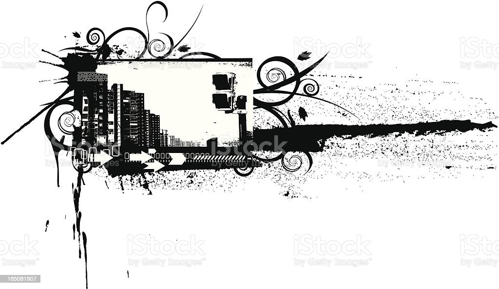 urban banner royalty-free stock vector art
