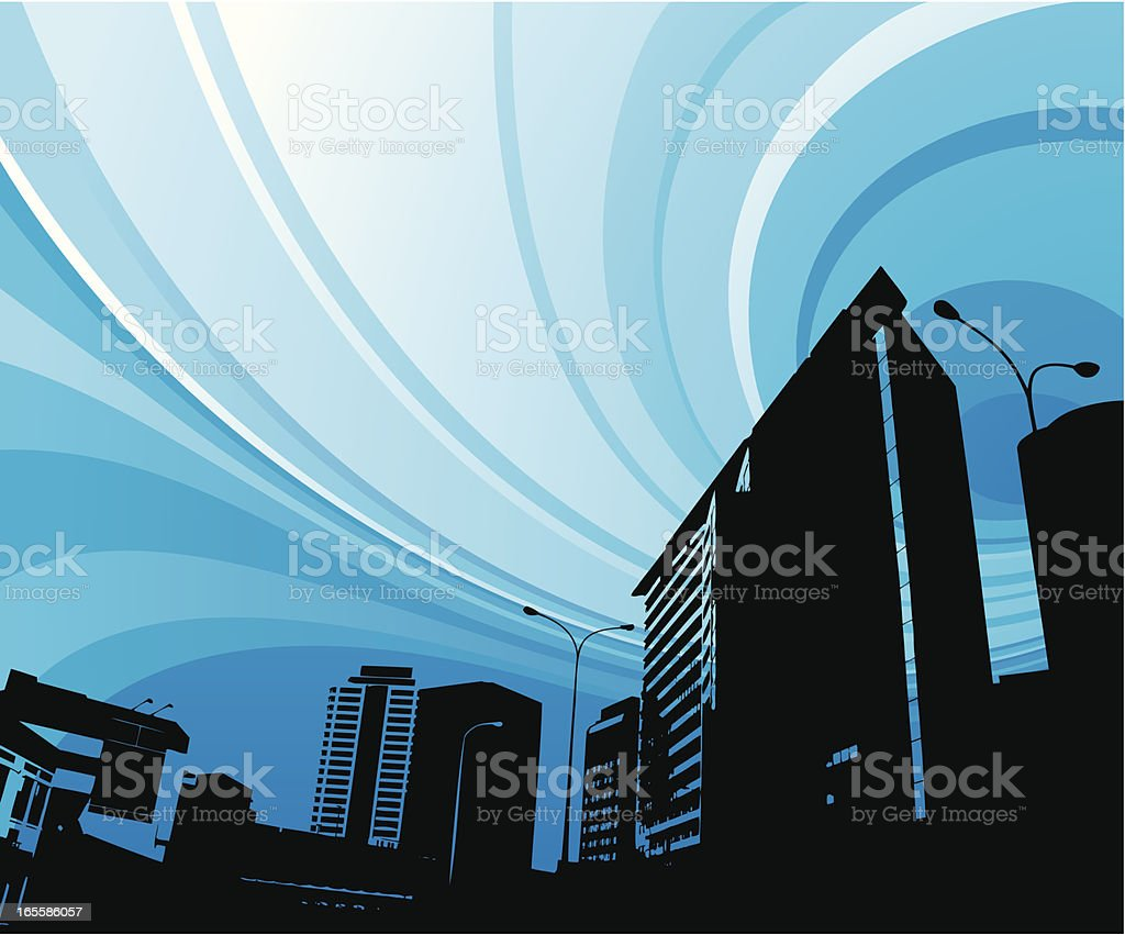 Urban blue royalty-free stock vector art