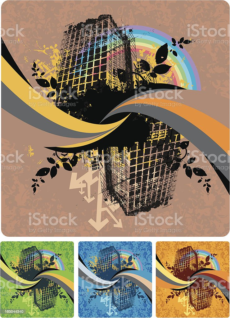 Urban building structure design. royalty-free stock vector art