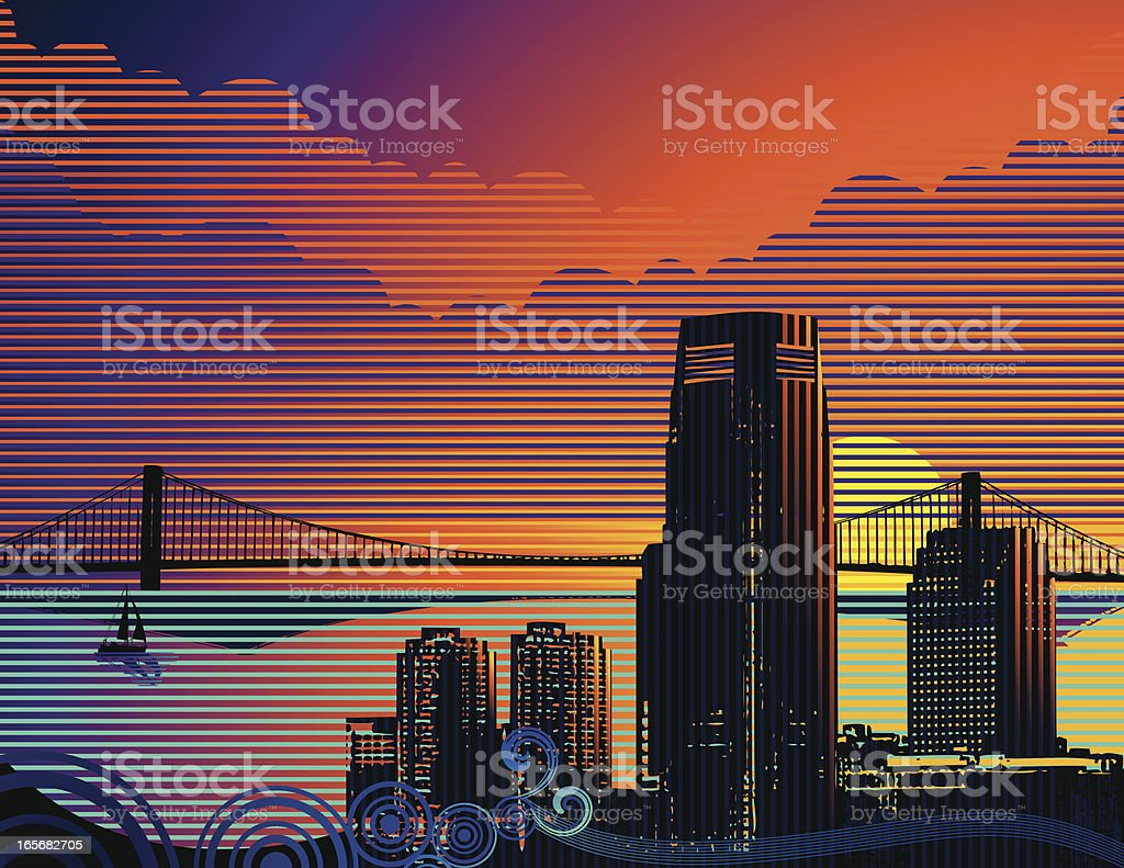 Urban City Background royalty-free stock vector art