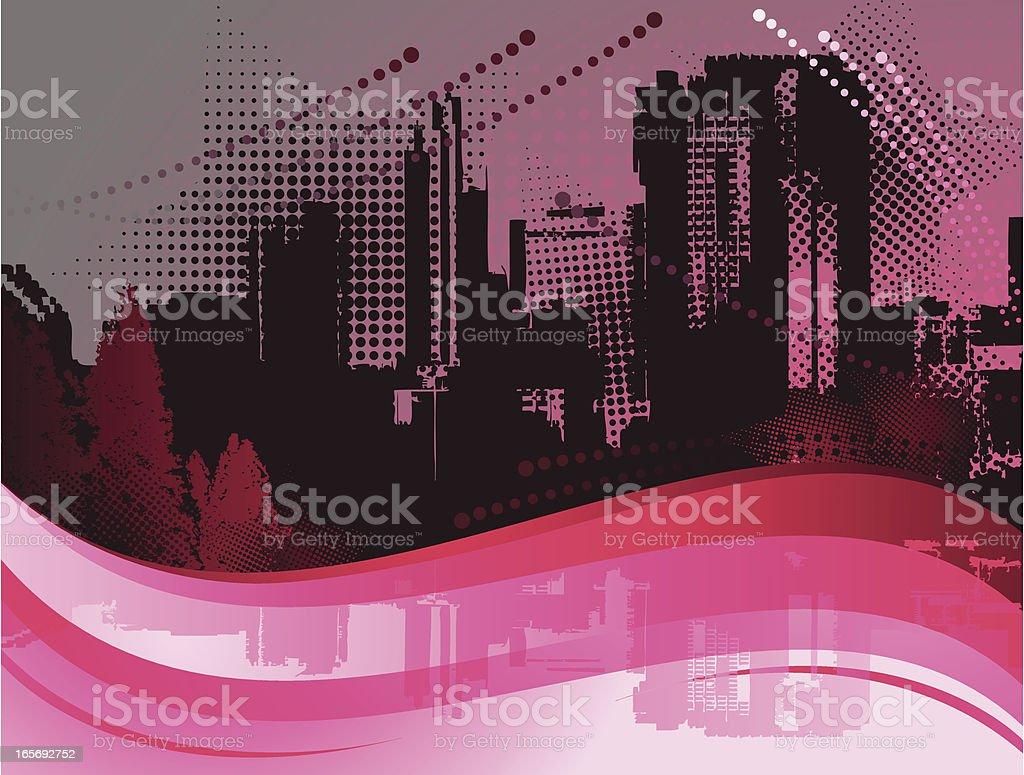 Urban City Background vector art illustration
