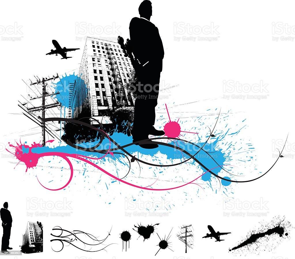 Urban Composition royalty-free stock vector art