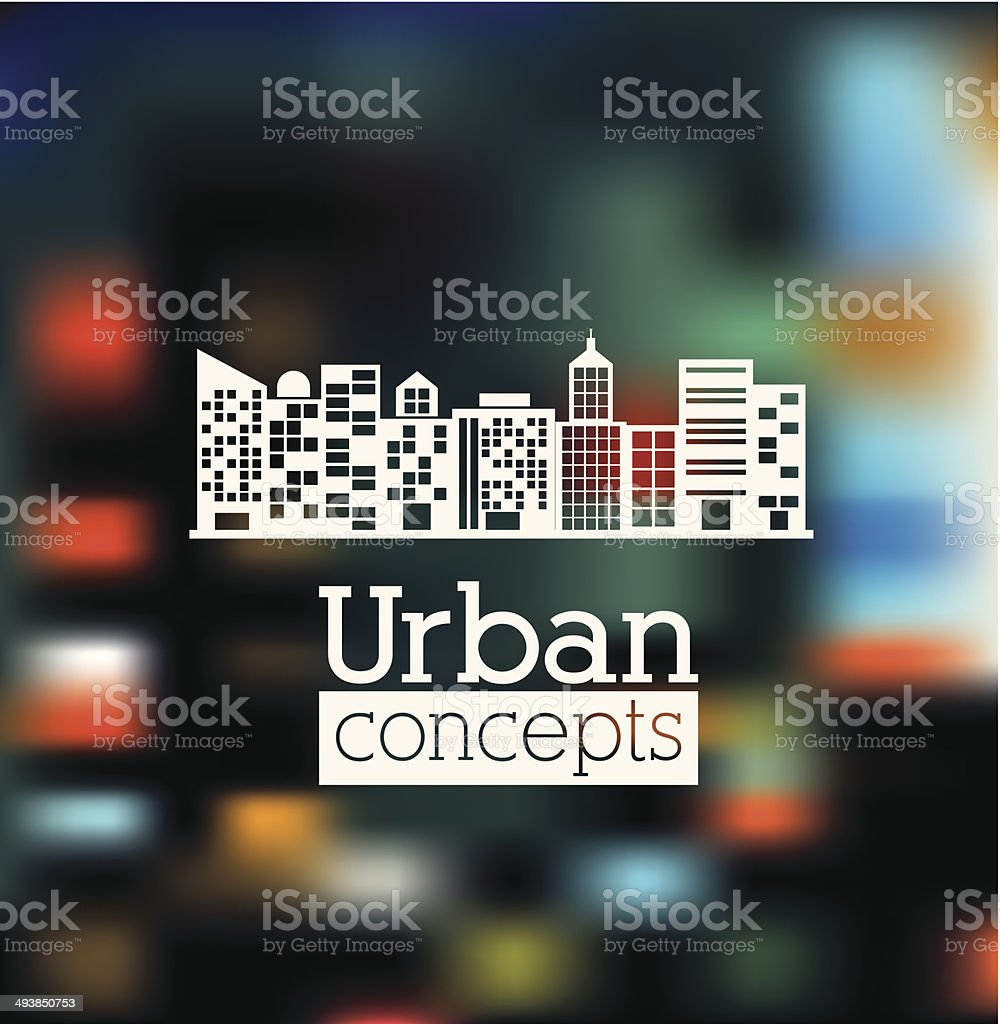Urban design vector art illustration