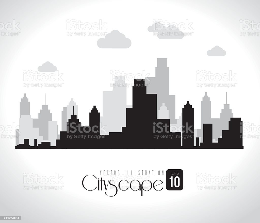 Urban design, vector illustration. vector art illustration