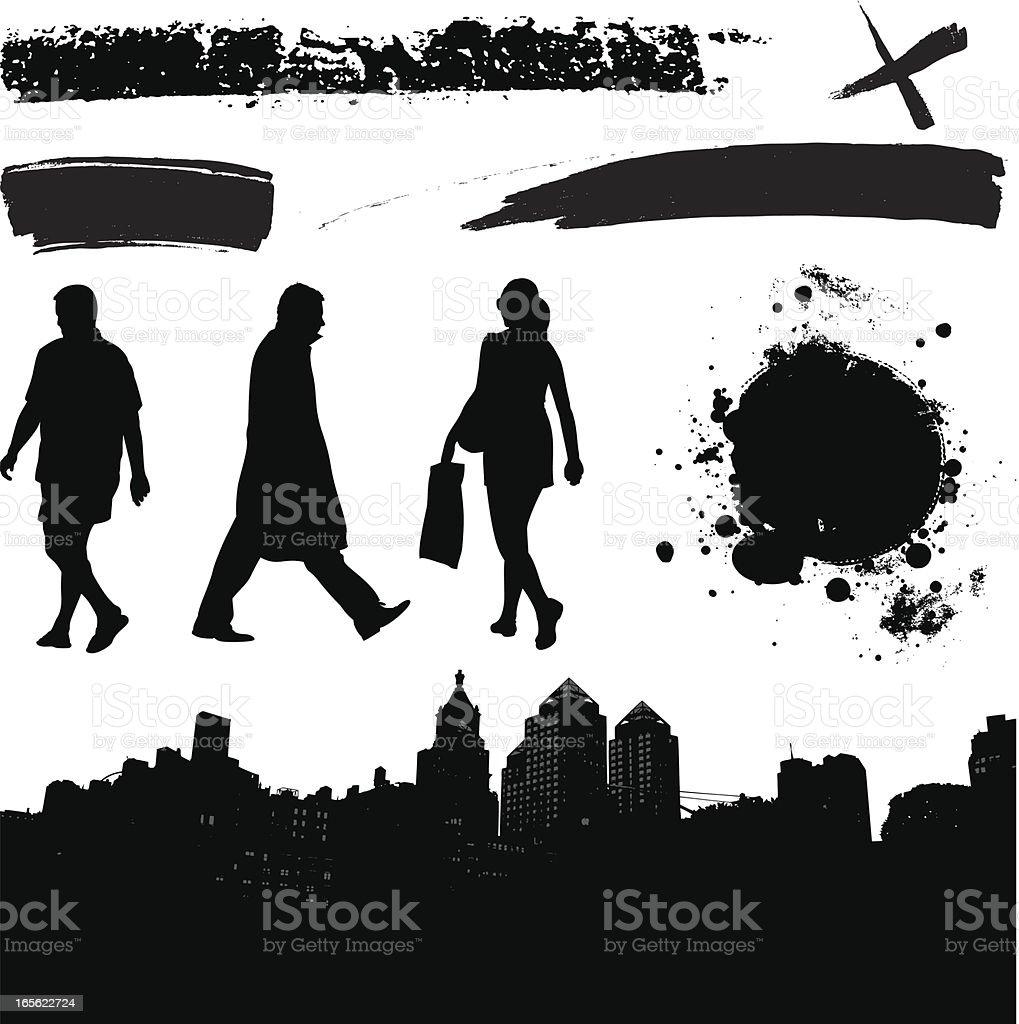 Urban elements royalty-free stock vector art