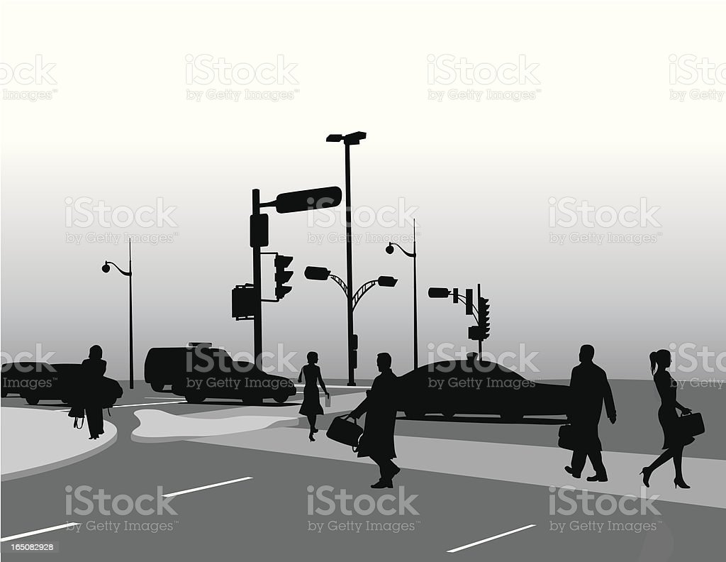 Urban Gloom Vector Silhouette royalty-free stock vector art