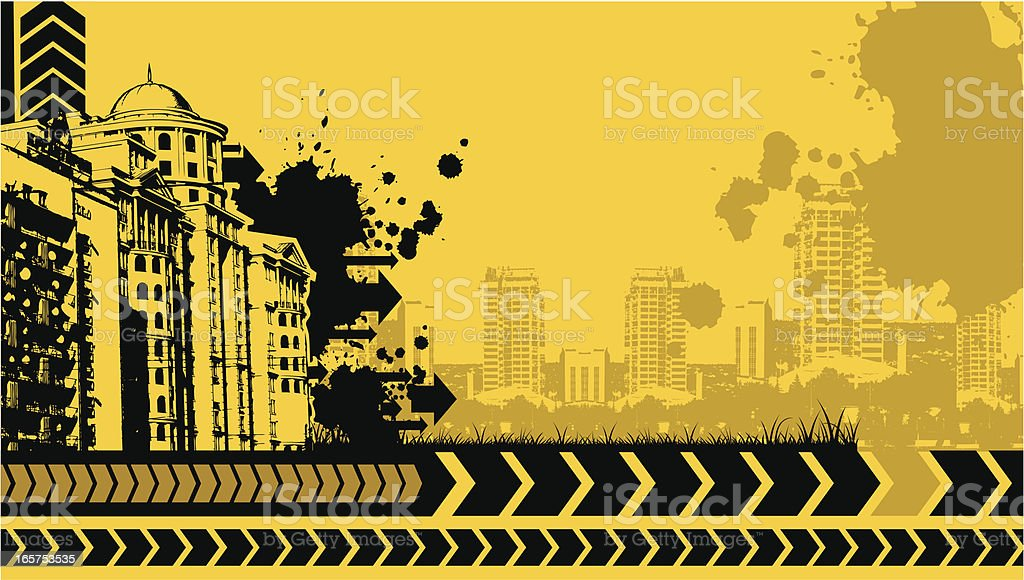 urban grunge design royalty-free stock vector art