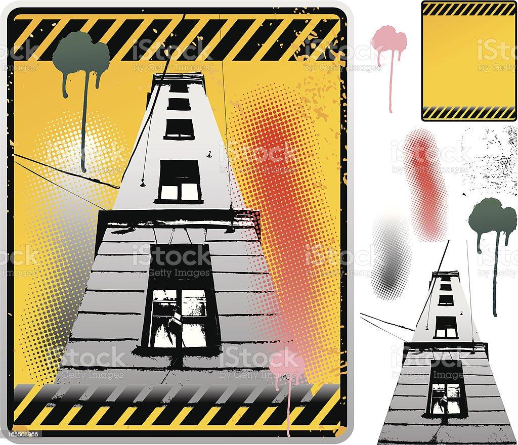 Urban grunge traffic sign. royalty-free stock vector art