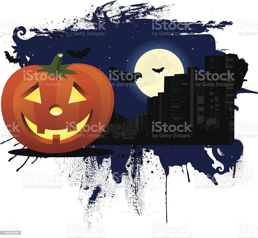 urban halloween royalty-free stock vector art
