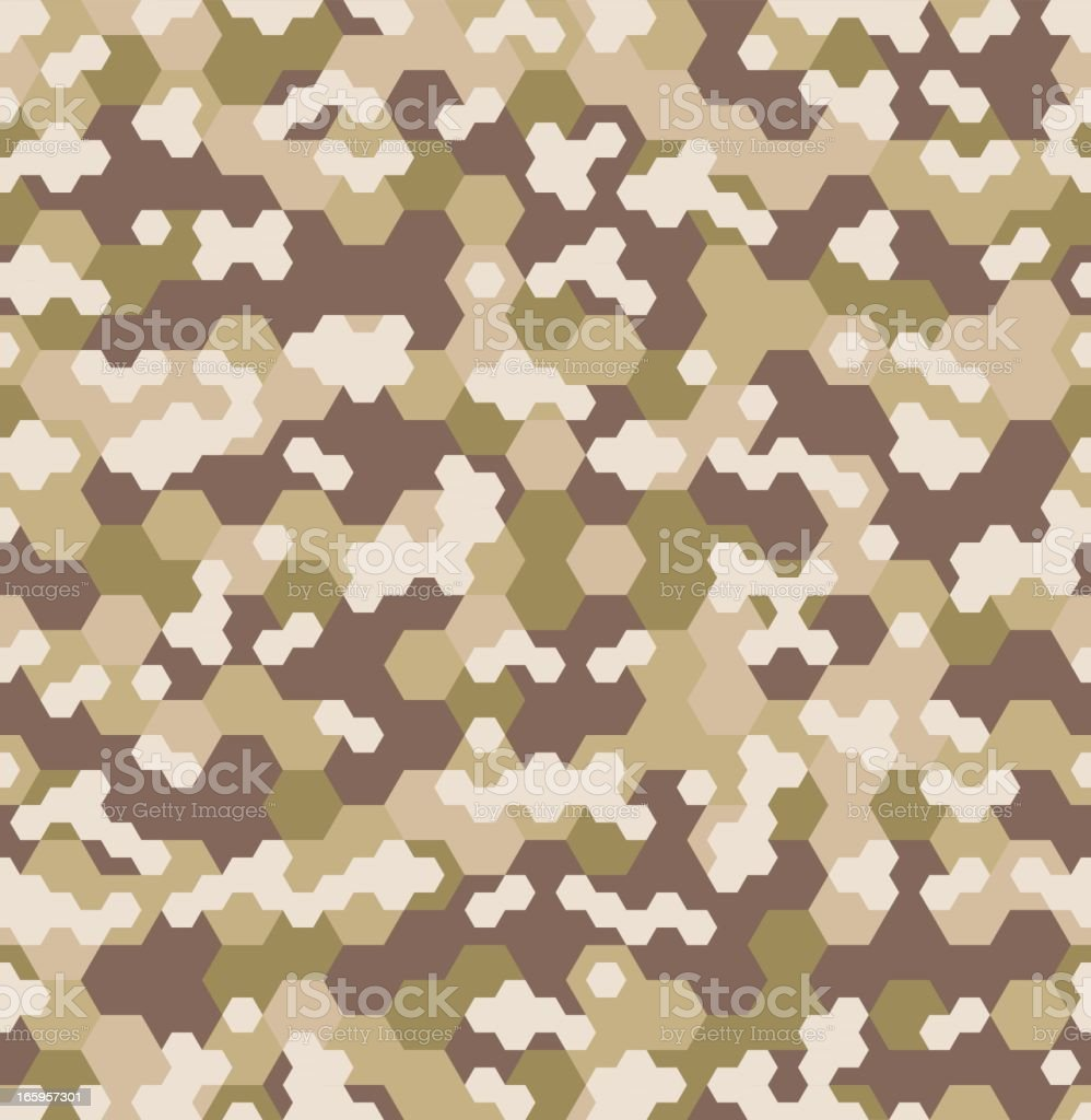 Urban HEX Camouflage - Seamless Tile vector art illustration