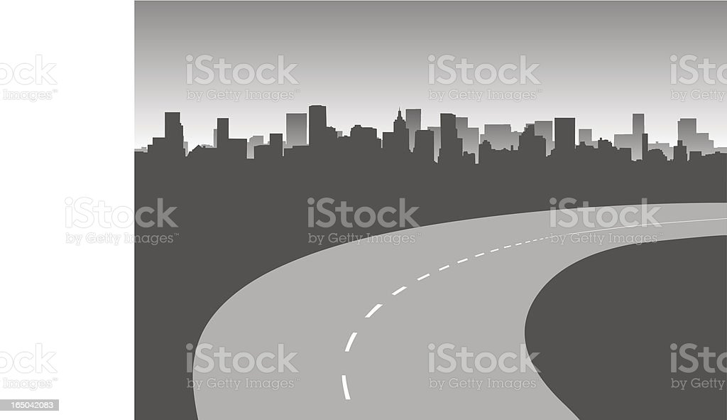 Urban highway royalty-free stock vector art
