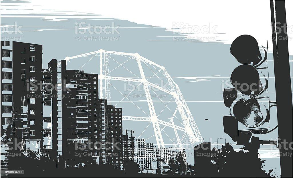 urban indigo royalty-free stock vector art
