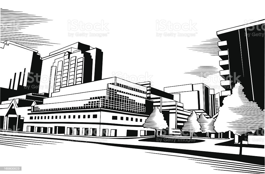 Urban Ink Drawing royalty-free stock vector art