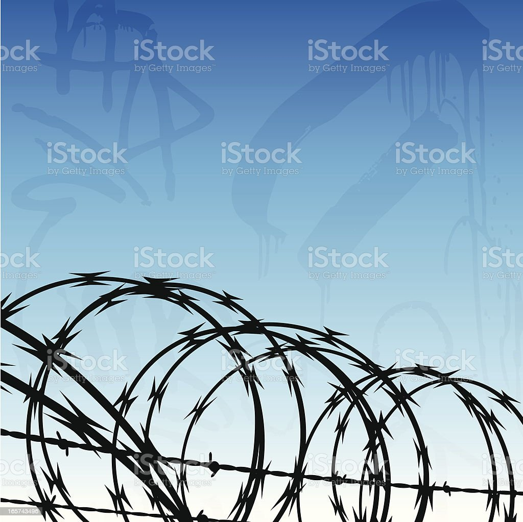 Urban Jail Background vector art illustration