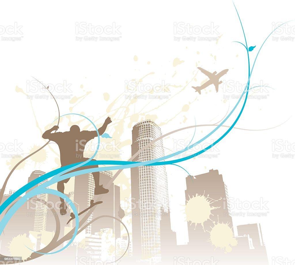 Urban Kickflip royalty-free stock vector art