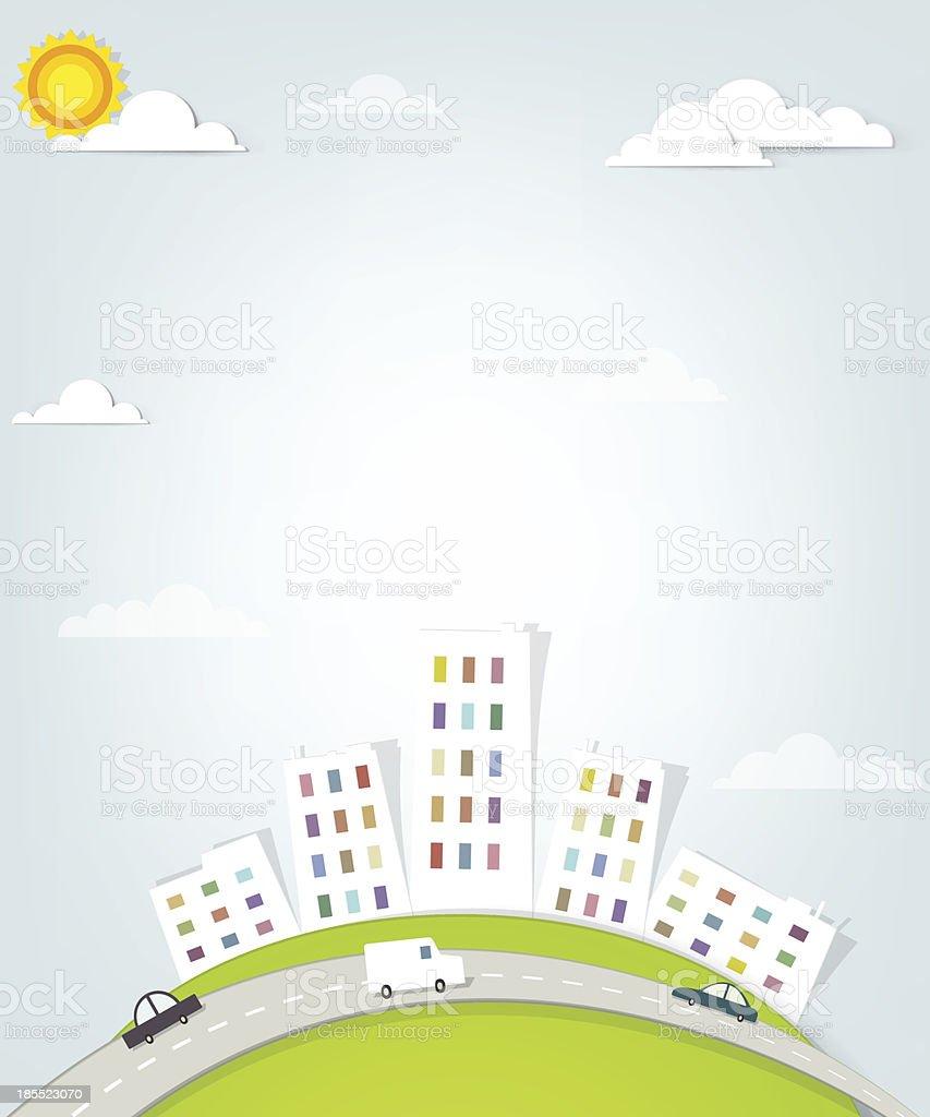 urban landscape. panorama de la ville stock vecteur libres de droits libre de droits
