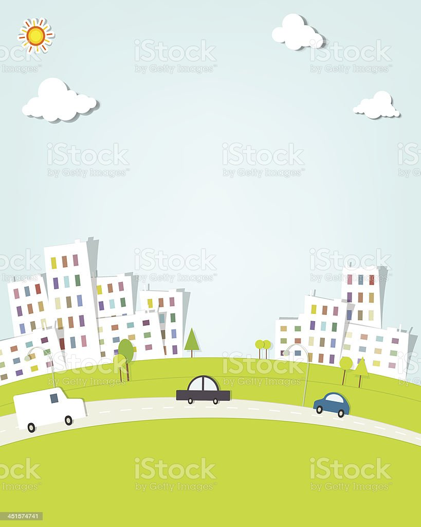 urban landscape royalty-free stock vector art