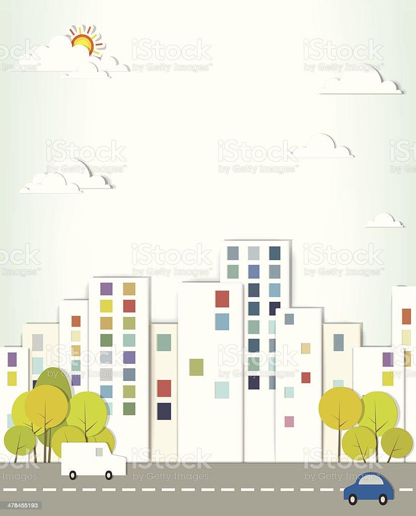 Paysage urbain. stock vecteur libres de droits libre de droits