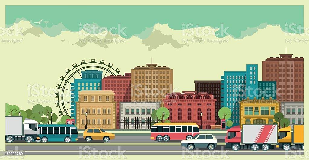Urban Landscape vector art illustration