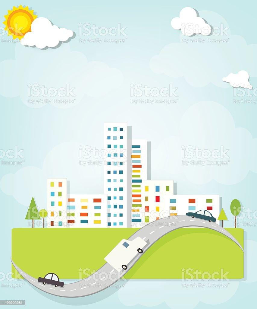 Paysage urbain stock vecteur libres de droits libre de droits
