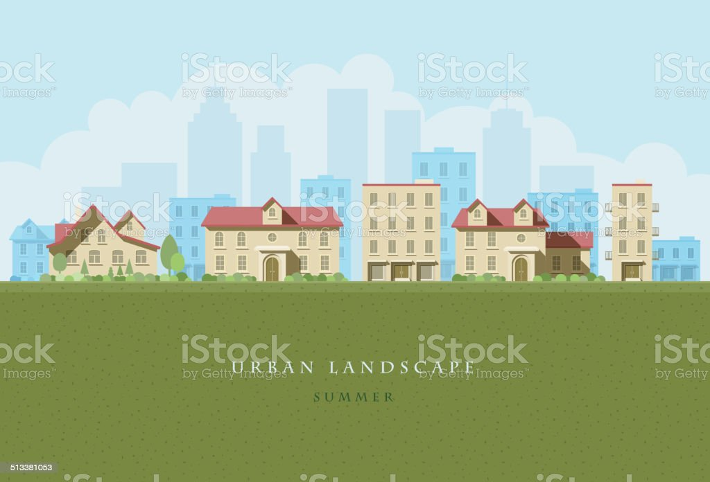 Urban Landscape vector art illustration