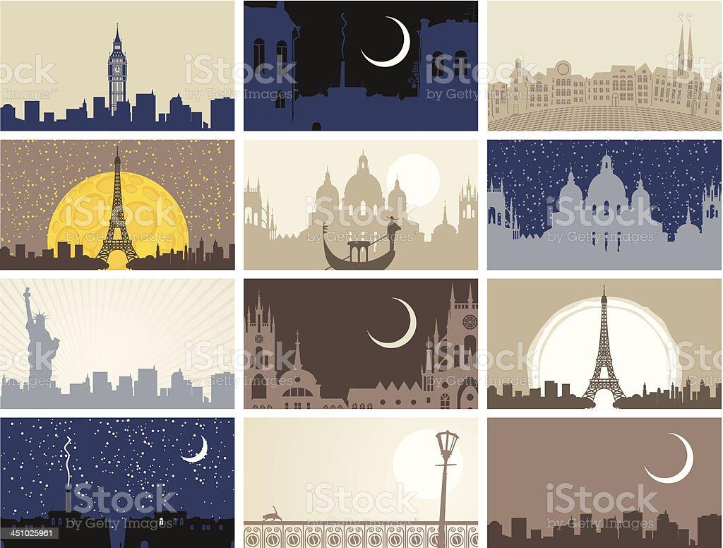 urban landscapes royalty-free stock vector art
